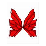 Rojo I de la mariposa Postales