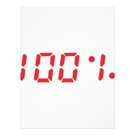 rojo icono del 100 por ciento membrete a diseño