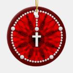 Rojo ideal del colector del rosario ornamentos de reyes magos