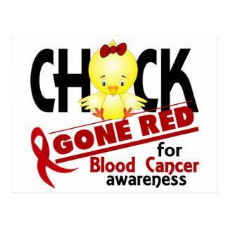 Rojo ido polluelo 2 del cáncer de sangre tarjetas postales