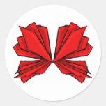 Rojo II de la mariposa Pegatina Redonda