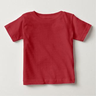 Rojo infantil de la camiseta del bebé playeras