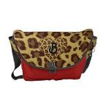 rojo inicial del bolso del estampado leopardo bolsa messenger
