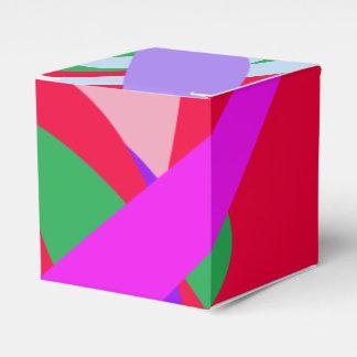 Rojo intrépido del arte abstracto de los colores cajas para regalos de boda