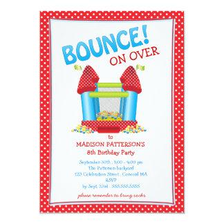 Rojo + Invitación animosa azul de la fiesta de