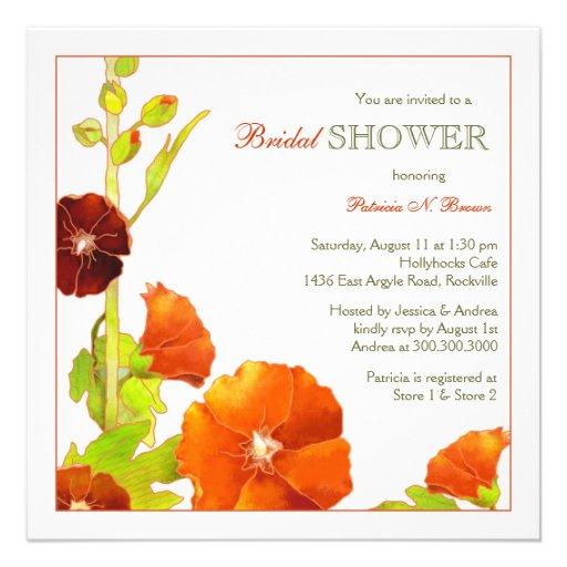 Rojo + Invitaciones nupciales florales elegantes Invitaciones Personalizada