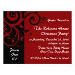 Rojo+Invitaciones reversas negras de la celebració Invitacion Personal