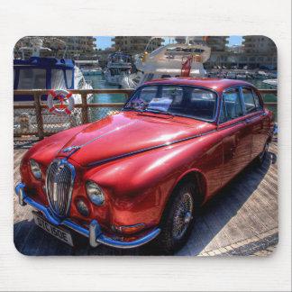 Rojo Jaguar del vintage Alfombrillas De Raton