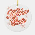 rojo kosher del cutie adornos de navidad