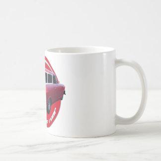 rojo largo de la furgoneta del tejado del nash tazas de café