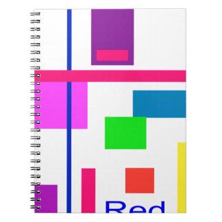 Rojo Libros De Apuntes