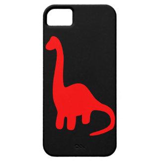 Rojo lindo Dino del caso del iPhone 5 de los Funda Para iPhone 5 Barely There