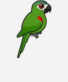 Rojo-llevó a hombros el Macaw Playeras