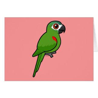 Rojo-llevó a hombros el Macaw Tarjeta De Felicitación