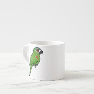 Rojo-llevó a hombros el Macaw Taza Espresso