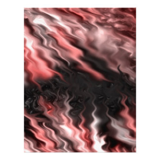 rojo loco del negro de los efectos membrete