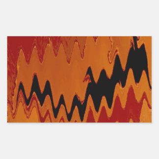 rojo loco del negro de los efectos pegatina rectangular