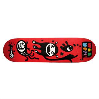 Rojo loco insano patin personalizado