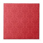 Rojo, lujo, teja elegante del modelo del damasco o