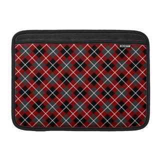 Rojo marrón Argyle blanco y negro gris oscuro Fundas MacBook