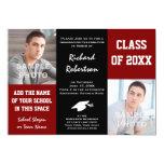 Rojo marrón + Graduación negra de la foto de Invitación