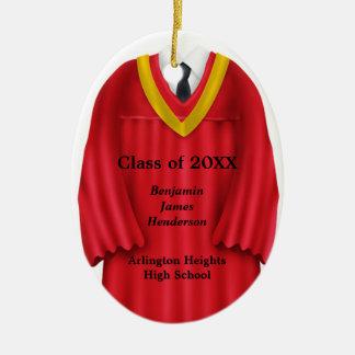 Rojo masculino del vestido del graduado y ornament adorno para reyes