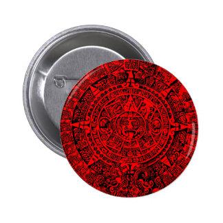 Rojo maya del calendario pin