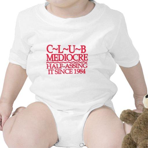 Rojo mediocre del club traje de bebé