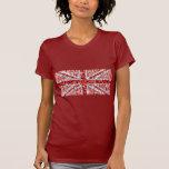 Rojo menudo de las señoras rojas BRITÁNICAS de la Camisetas