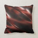 Rojo metálico brillante almohadas