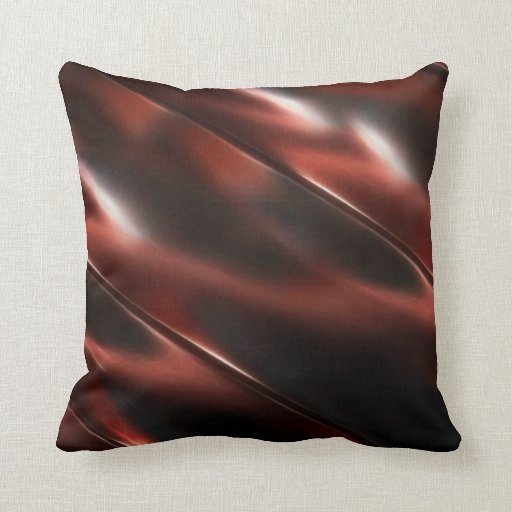 Rojo metálico brillante cojín