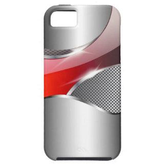 Rojo metálico de la redada de la malla del cromo funda para iPhone SE/5/5s