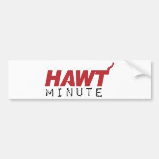ROJO minucioso de HAWT Pegatina De Parachoque