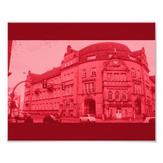 rojo místico de la opinión del edificio alemán fotografía