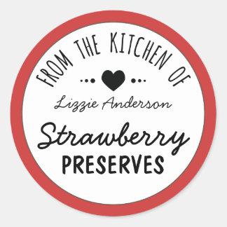 Rojo moderno de la cocina de la etiqueta