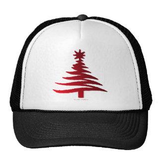 Rojo moderno de la impresión de la plantilla del á gorras