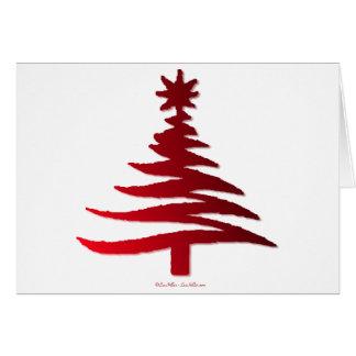 Rojo moderno de la impresión de la plantilla del á tarjeta de felicitación