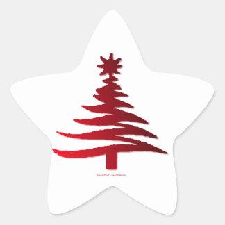 Rojo moderno de la impresión de la plantilla del calcomanías forma de estrella