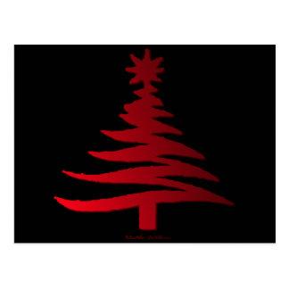 Rojo moderno de la impresión de la plantilla del postales
