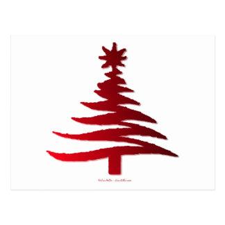 Rojo moderno de la impresión de la plantilla del postal