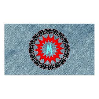 Rojo moderno del art déco del dril de algodón de tarjetas de visita