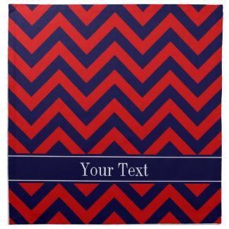 Rojo, monograma del nombre de los azules marinos servilleta de papel