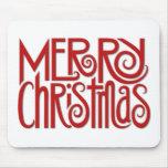 Rojo Mousepad de las Felices Navidad Tapete De Ratón
