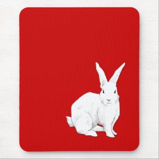 Rojo Mousepad del conejo