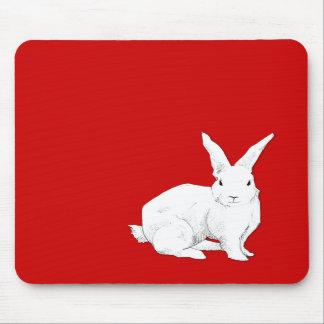 Rojo Mousepad del conejo Alfombrillas De Ratón
