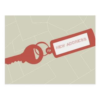Rojo móvil moderno adaptable de //de la invitación postales