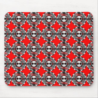 Rojo multi redondo del mousepad del cráneo TV