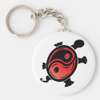 Rojo-n-Negro-Yin-Yang-Tortuga Llavero