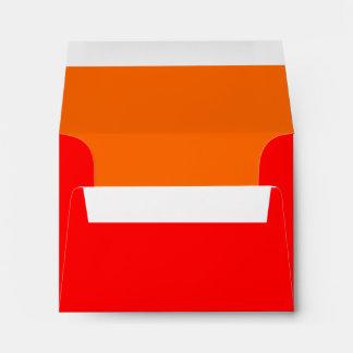 Rojo/naranja del sobre A2