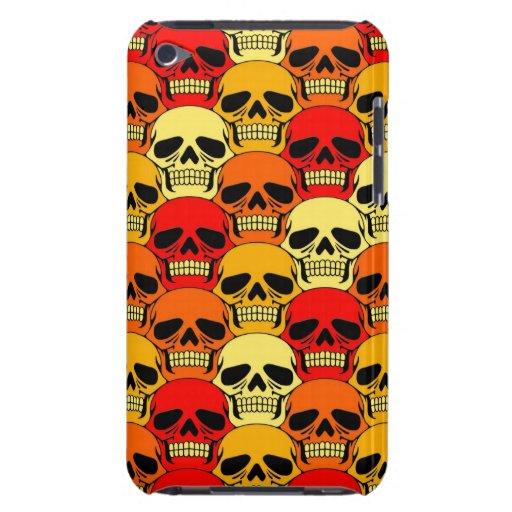 Rojo, naranja y amarillo del modelo del cráneo que iPod Case-Mate protectores